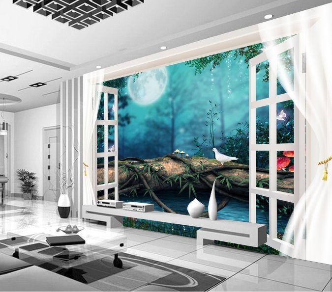 3D Fort Paysage 4 Photo Papier Peint en Autocollant Murale Plafond Chambre Art