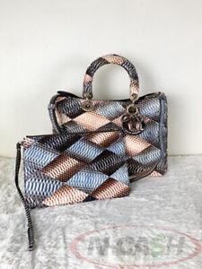 BIGSALE! AUTHENTIC $12000 Christian Dior Snakeskin Patchwork Diorissimo Bag
