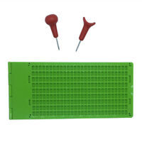 9 Lines 28 Cells Braille Writing Slate With 2 Pcs Stylus
