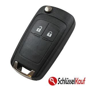 Auto-Gehaeuse-Klapp-Schluessel-2T-Neu-passend-fuer-Opel-Astra-Corsa-Meriva-Insignia