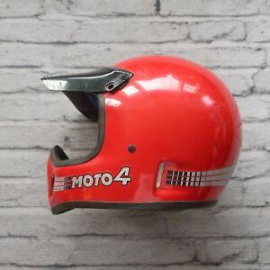 Vintage-Bell-Moto-4-Motorcycle-Full-Face-Helmet-Red-Motocross-Star