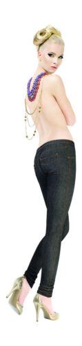 Size S M L New Women Girls Opaque Soft Cotton Denim Leggings Pants 120 Denier