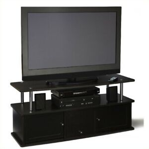 Pemberly Row TV Stand with 3 Cabinets in Espresso