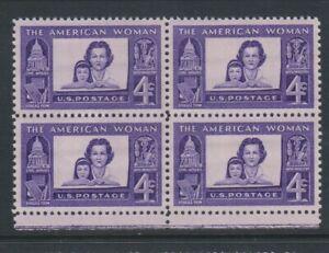 USA - 1960, 4c Violet, American Womanhood Block of 4 - M/M - SG 1151