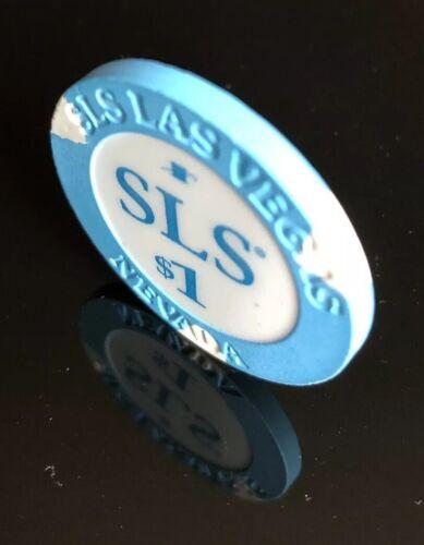 AUTHENTIC SLS CASINO ALMOST UNCIRCULATED EX SAHARA LAS VEGAS $1 HOUSE CHIP