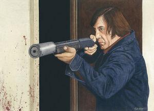 No Country For Old Men Javier Bardem Art Print Ebay