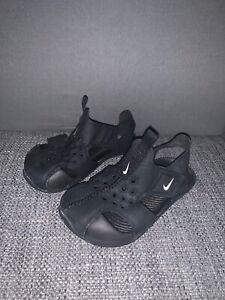 9fd528e9a600 Image is loading nike-sunray-sandals-Infant-5-5-Black