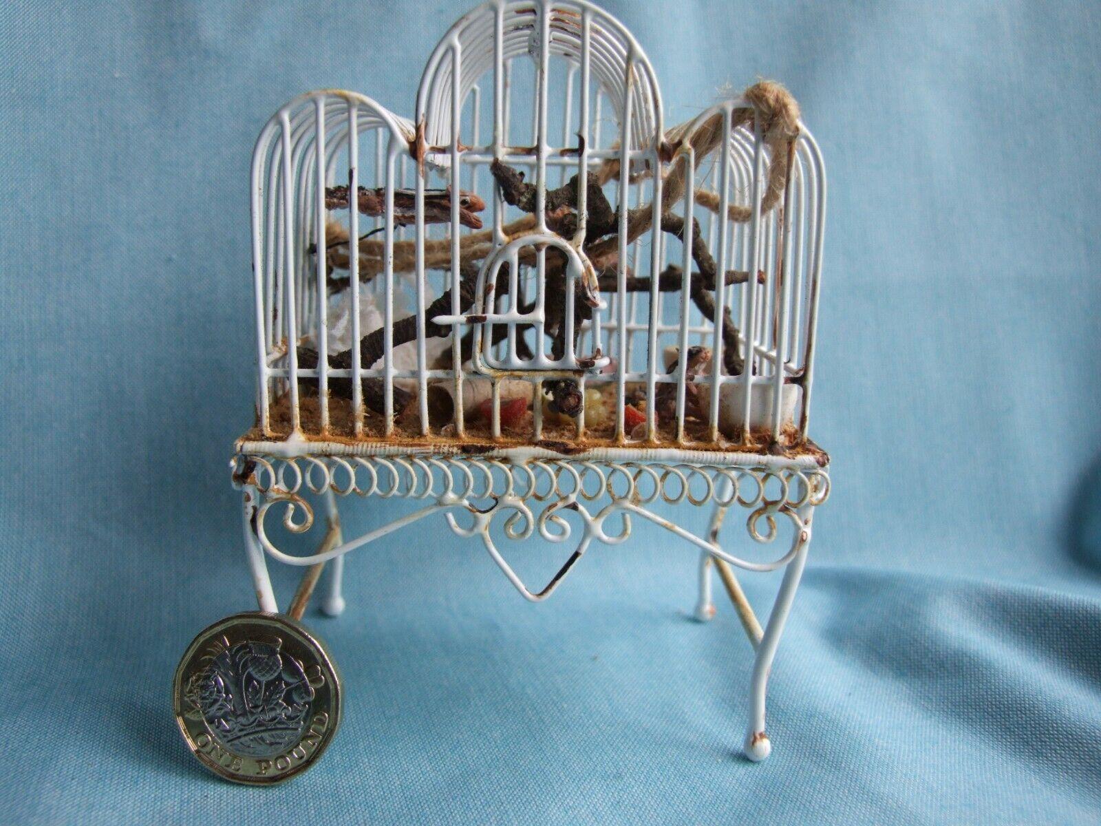Original En Miniatura Por Alexandra Blythe  jaula de casa de muñecas 'ardillas's (ajblc 7)