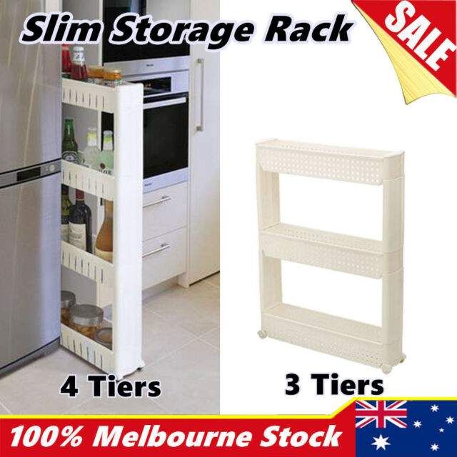 New Slide Out Storage Tower Rolling Bathroom Kitchen Trolley Spice Rack Caddy