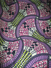 ** AFRICAN MITEX HOLLAND REAL WAX COTTON PRINT FABRIC*CRAFT/CLOTHING**1 YARD**