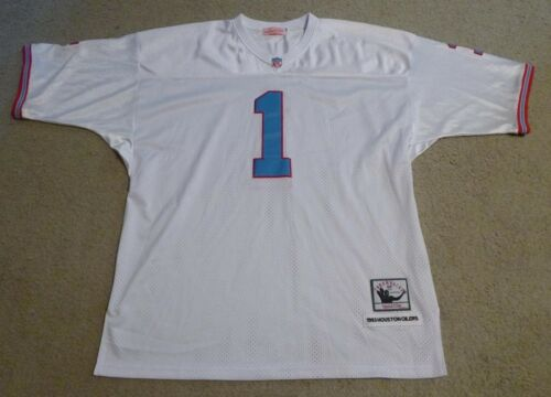 bf8d38da6 4 of 7 Warren Moon Signed Houston Oilers Jersey Exact Proof! Mitchell   Ness  Throwback