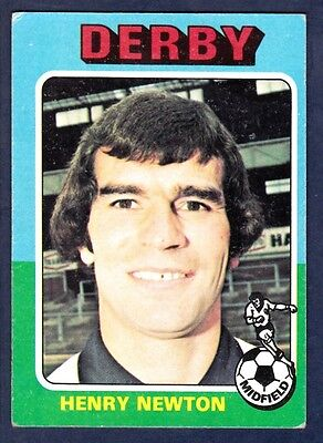 -#145- DERBY COUNTY TOPPS-FOOTBALL BLUE BACK 1976 HENRY NEWTON