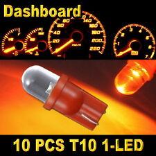 10x Amber T10 W5W 194 168 2825 1-LED Wedge Light Bulb Car Dashboard Side Lamp