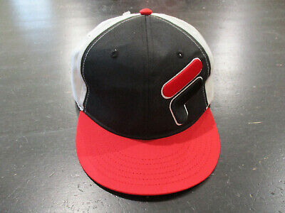 Fila Boys Youth Baseball Hat Snap Back New Black Red With Embroidery