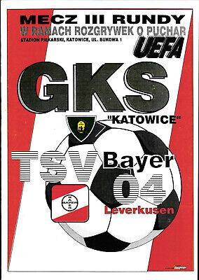 Programm UEFA Cup 1994//95 Bayer Leverkusen GKS Kattowitz
