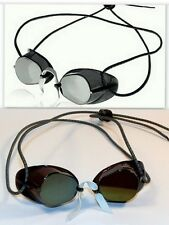 2 Pack - Sporti Swedish Swim Goggles- Antifog  Metallic Silver and Metallic Gold