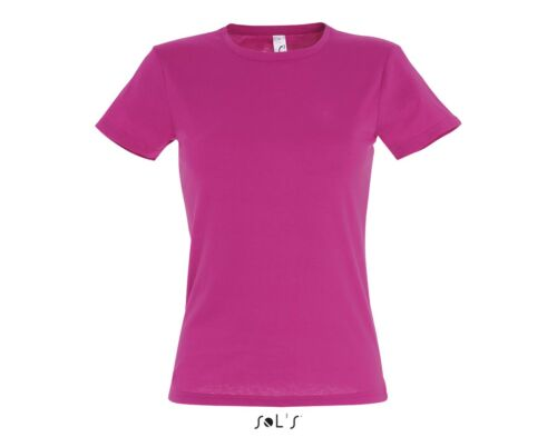 Womens Miss Lady Fit TEE 24 Colours Sol/'s Short Sleeve Tee LADIES T-SHIRT
