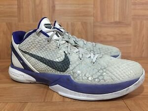 official photos d41f7 fbe69 Image is loading RARE-Nike-Kobe-Zoom-VI-6-Concord-Purple-