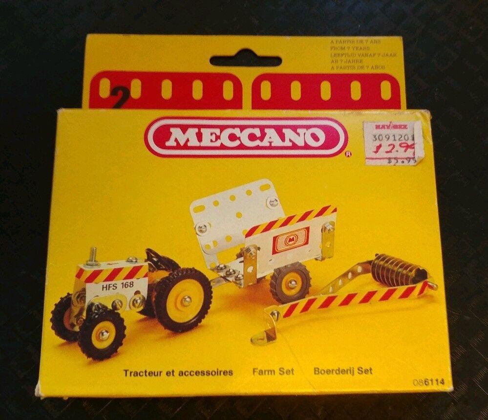 Set Vintage 1981 Meccano Granja Tractor Con Cochero