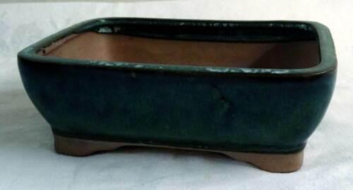 Yixing-Bonsai-Schale rechteckig # 254 16 x 12,5 x 5,5 cm grün *CBG