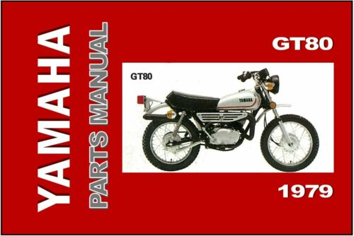 YAMAHA Parts Manual GT80 F GT80F 1979 Replacement Spares Catalog List
