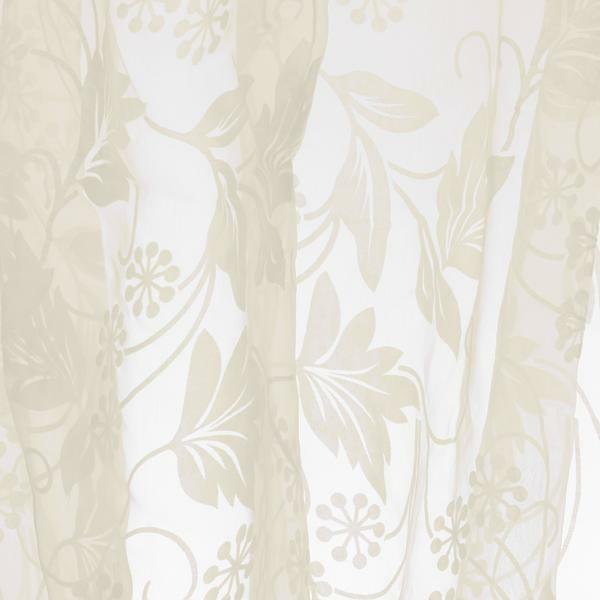 Home Decor Modern Beige Prints Sheer Voile Window Panel Curtain 215x140cm