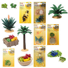 Schleich Wild Life Wüstenrennmaus mit großem Farn Pflanze Grünzeug