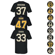Boston Bruins NHL Reebok Player Name & Number Team Premier Jersey T-Shirt Men's