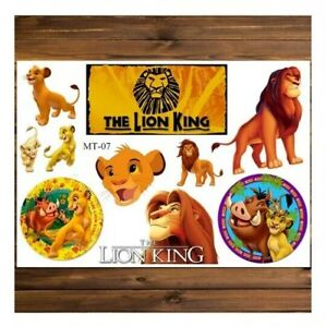Details About The Lion King Temporary Tattoos Fun Kids Waterproof Cartoon Pocket Money Toys