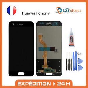 Ecran lcd + vitre tactile Huawei Honor 9 Noir Original + colle + outils