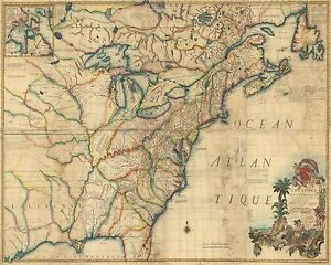 Details about 1770 North America Colonial American Colonies Old Map
