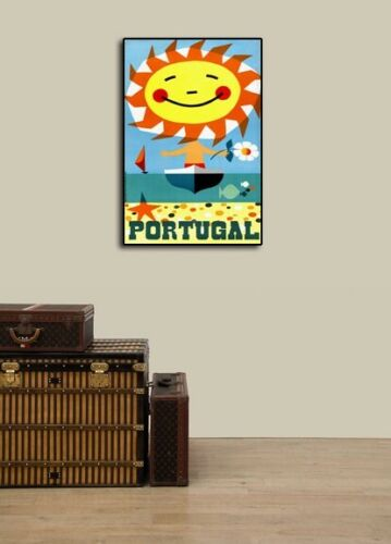 Portugal for Sunshine /& Fun 1959 Vintage Style Travel Poster 20x30