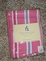 Pbk Pottery Barn Kids Kelsey Pink Stripe Medium Or Large Basket Liner Upick