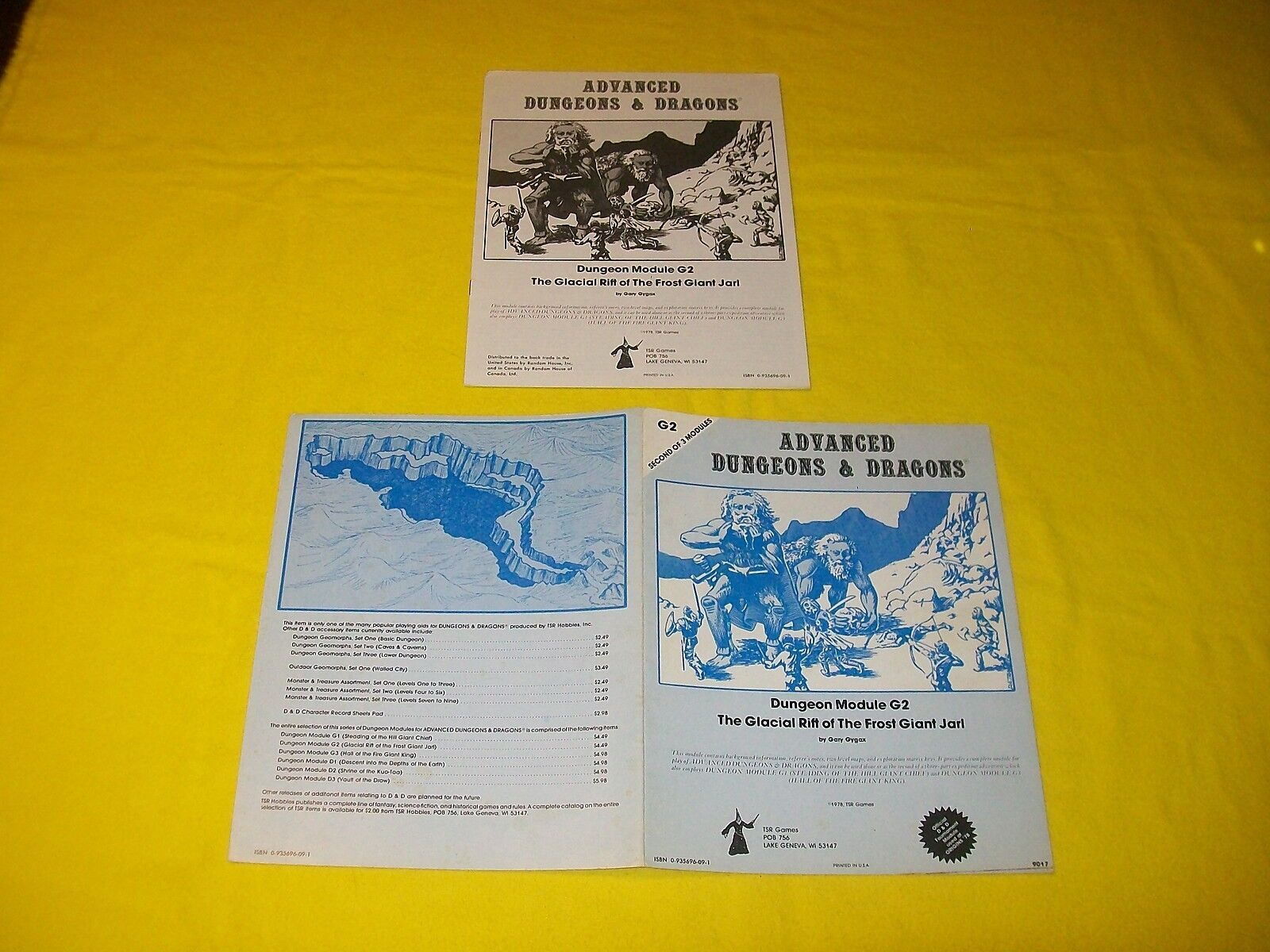 G2 THE GLACIAL RIFT OF THE FROST GIANT JARL DUNGEONS & DRAGONS AD&D TSR 9017 4