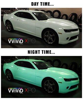 Vvivid Xpo Gloss Green Glow In The Dark Vinyl Car Wrap decal   eBay