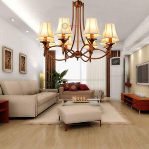 Details About Vintage Iron Chandelier Pendant Light Ceiling Lamp Living Room Lighting Led Bulb