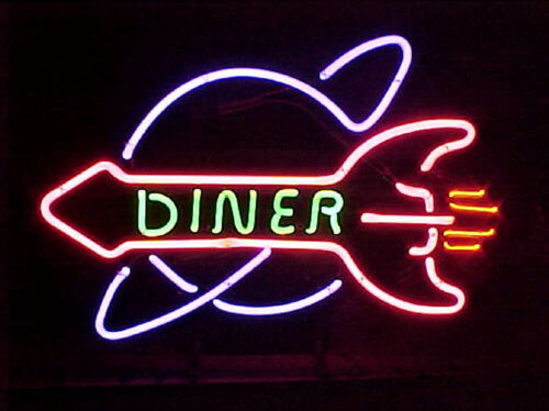 "Diner Neon Sign Light Restraunt Hotel Bar Pub Wall Poster Visual Artwork17/""x14/"""