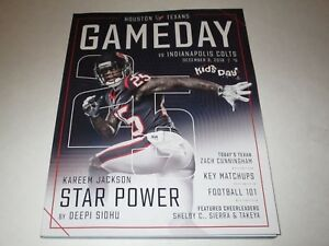 Details About Houston Texans Gameday Program December 9th 2018 W Pullout Poster