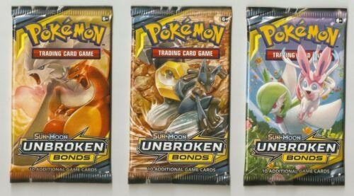3-Pokemon Unbroken Bonds GX/HOLO/FULL ART/SECRET RARE HOT PACKS Charizard GX?