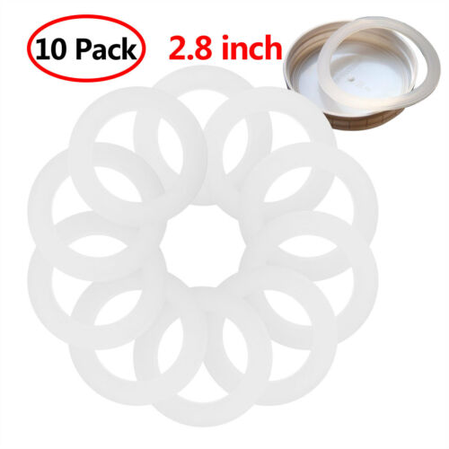10 Plastic Storage Lids Leak Proof Secure Caps for Regular//Wide Mouth Mason Jar