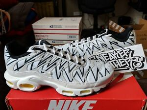 Details about Nike Air Max Plus TN Tuned 1 La Requin The Shark Teeth White Black AJ6311 100