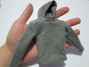 1-6-Scale-grau-Hoodie-Pullover-fuer-12-034-Action-Figur-Puppen-Spielzeug