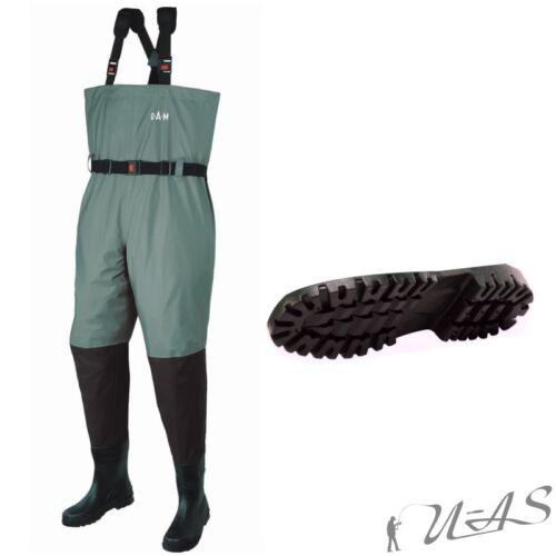 DAM Hydro-Tech Wathose Atmungsaktiv Gummi Stiefel Teich Hose Gr.40 Ava