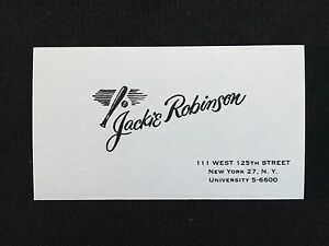 1950s1960s jackie robinson authentic original business card image is loading 1950s 1960s jackie robinson authentic original business card reheart Images