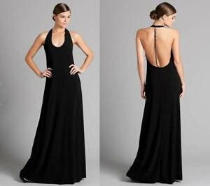 1a16d81a73c4 NEW  198 MARCIANO GUESS KARA JERSEY HALTER MAXI DRESS CHAIN BACK TOP ...
