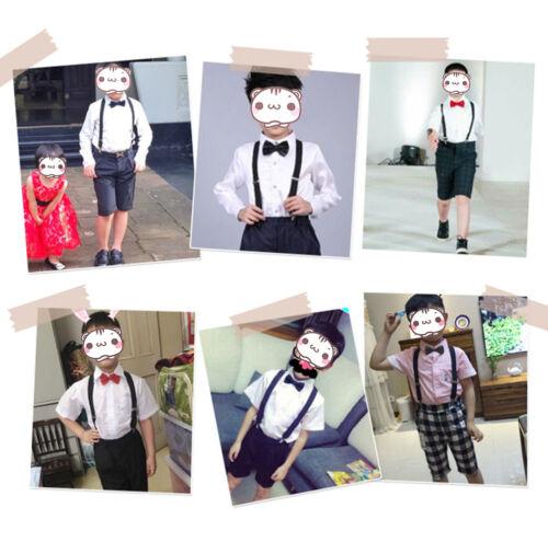 Boys Girls Kids Child Baby Children Toddler Clip on Elastic Suspenders Braces