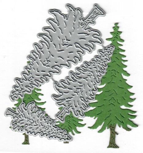 Pine trees Dies...to die for metal cutting craft die Wooodands tree