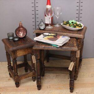 Genial Image Is Loading Kosi Nest Of 3 Side Tables Mango Wood