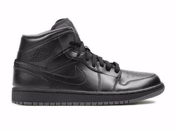 Nike Air Jordan 1 Mid Black 554724-021 Basketball Shoes Men