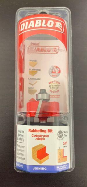 Diablo  1-1//4 in x 2 in L Carbide  Rabbeting Router Bit Dia